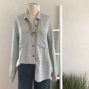 Anthropologie   Holding Horses Plaid Woven Top